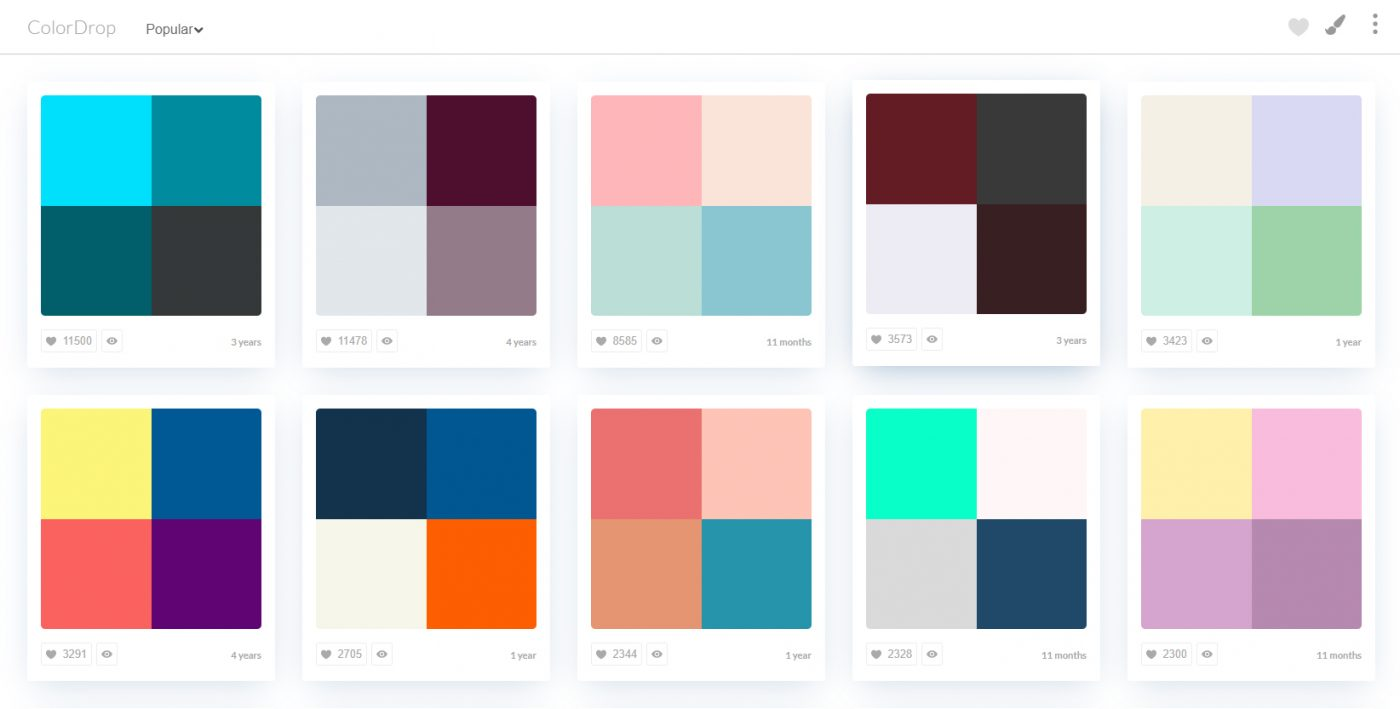 Color palette generator Color Drop
