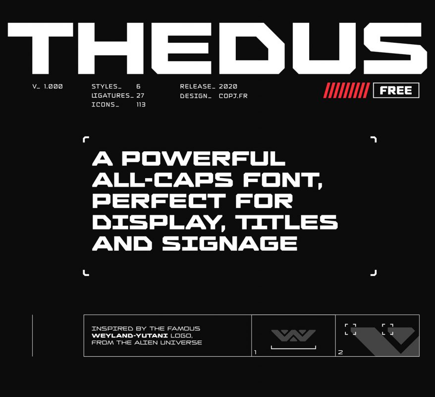 thedus free font