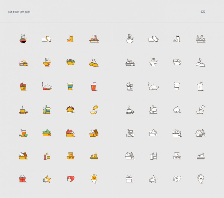 Asian Food FREE Icon pack