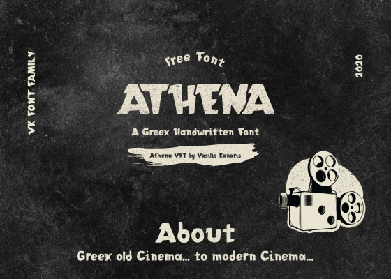 Athena VKF free font for commercial use