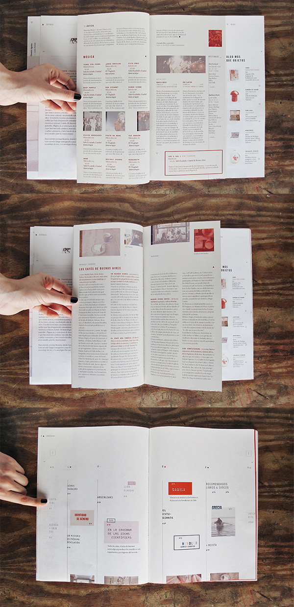 Dale Magazine clean table of content design